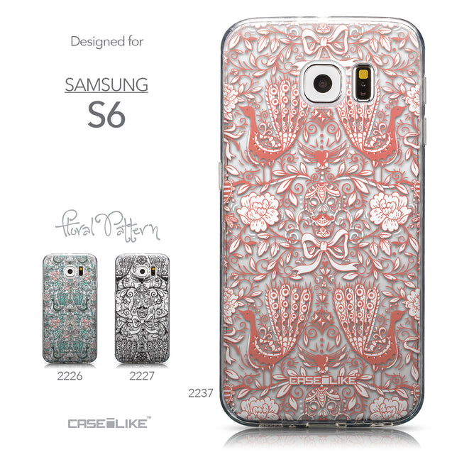 Collection - CASEiLIKE Samsung Galaxy S6 back cover Roses Ornamental Skulls Peacocks 2237
