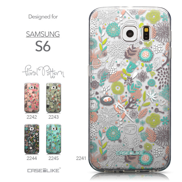 Collection - CASEiLIKE Samsung Galaxy S6 back cover Spring Forest White 2241