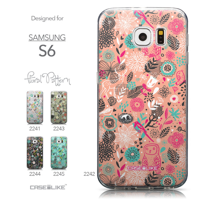Collection - CASEiLIKE Samsung Galaxy S6 back cover Spring Forest Pink 2242