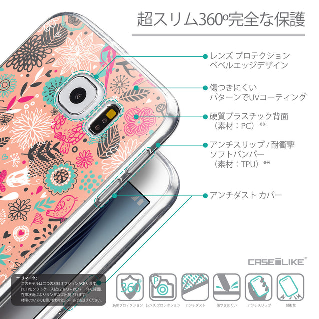 Details in Japanese - CASEiLIKE Samsung Galaxy S6 back cover Spring Forest Pink 2242