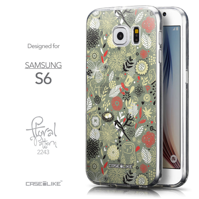 Front & Side View - CASEiLIKE Samsung Galaxy S6 back cover Spring Forest Gray 2243