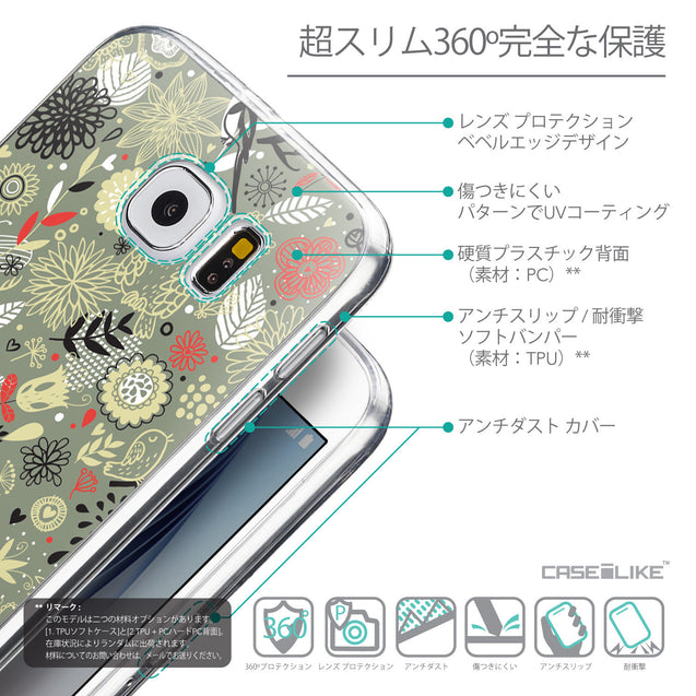Details in Japanese - CASEiLIKE Samsung Galaxy S6 back cover Spring Forest Gray 2243