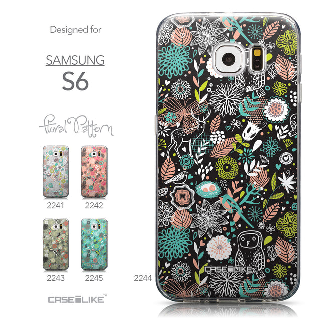 Collection - CASEiLIKE Samsung Galaxy S6 back cover Spring Forest Black 2244