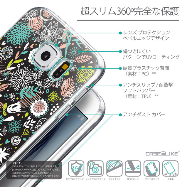 Details in Japanese - CASEiLIKE Samsung Galaxy S6 back cover Spring Forest Black 2244
