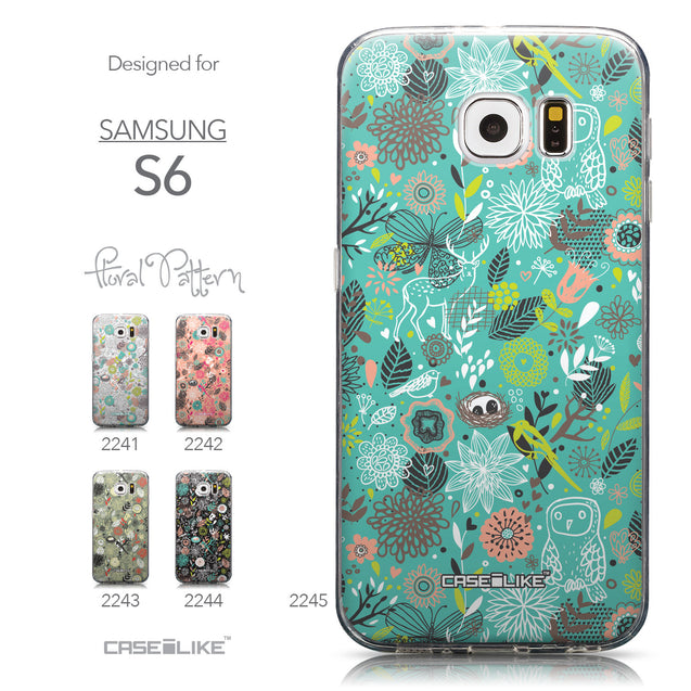 Collection - CASEiLIKE Samsung Galaxy S6 back cover Spring Forest Turquoise 2245