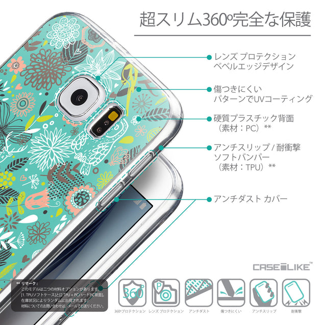 Details in Japanese - CASEiLIKE Samsung Galaxy S6 back cover Spring Forest Turquoise 2245