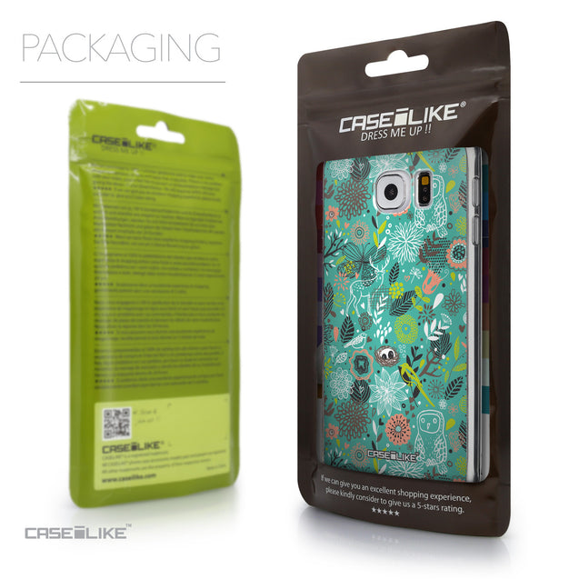 Packaging - CASEiLIKE Samsung Galaxy S6 back cover Spring Forest Turquoise 2245