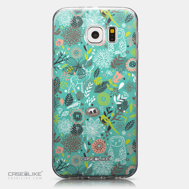 CASEiLIKE Samsung Galaxy S6 back cover Spring Forest Turquoise 2245