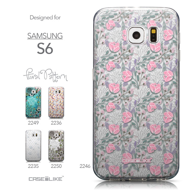 Collection - CASEiLIKE Samsung Galaxy S6 back cover Flowers Herbs 2246