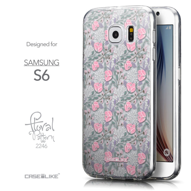 Front & Side View - CASEiLIKE Samsung Galaxy S6 back cover Flowers Herbs 2246