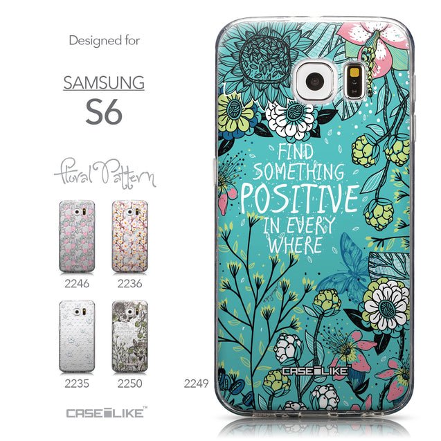 Collection - CASEiLIKE Samsung Galaxy S6 back cover Blooming Flowers Turquoise 2249