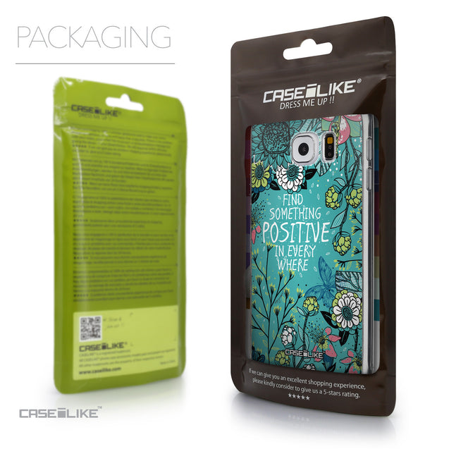 Packaging - CASEiLIKE Samsung Galaxy S6 back cover Blooming Flowers Turquoise 2249