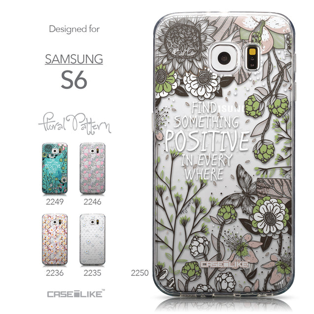 Collection - CASEiLIKE Samsung Galaxy S6 back cover Blooming Flowers 2250