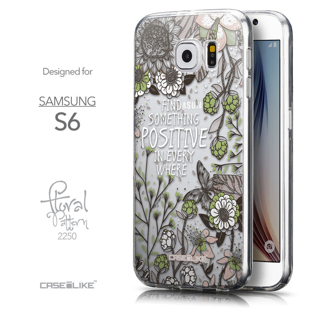 Front & Side View - CASEiLIKE Samsung Galaxy S6 back cover Blooming Flowers 2250