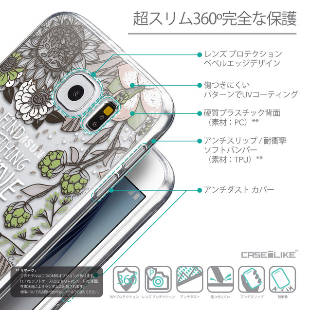 Details in Japanese - CASEiLIKE Samsung Galaxy S6 back cover Blooming Flowers 2250