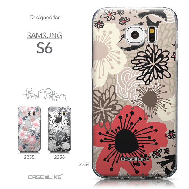 Collection - CASEiLIKE Samsung Galaxy S6 back cover Japanese Floral 2254