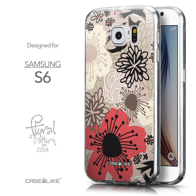 Front & Side View - CASEiLIKE Samsung Galaxy S6 back cover Japanese Floral 2254
