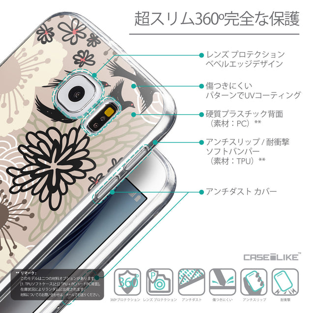 Details in Japanese - CASEiLIKE Samsung Galaxy S6 back cover Japanese Floral 2254