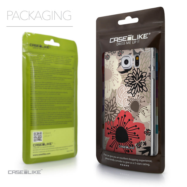 Packaging - CASEiLIKE Samsung Galaxy S6 back cover Japanese Floral 2254