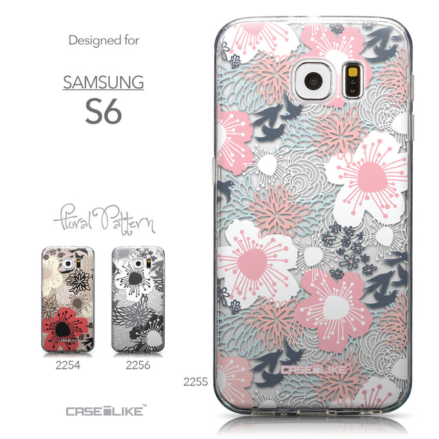 Collection - CASEiLIKE Samsung Galaxy S6 back cover Japanese Floral 2255