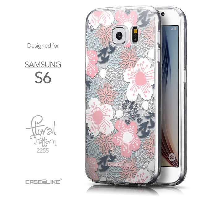 Front & Side View - CASEiLIKE Samsung Galaxy S6 back cover Japanese Floral 2255