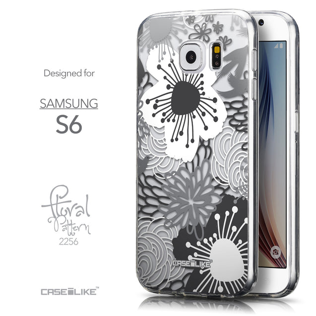 Front & Side View - CASEiLIKE Samsung Galaxy S6 back cover Japanese Floral 2256