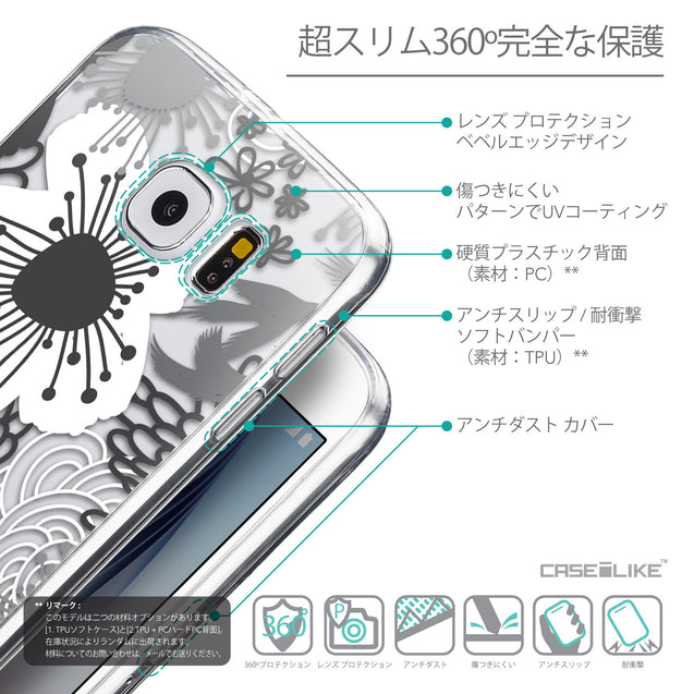 Details in Japanese - CASEiLIKE Samsung Galaxy S6 back cover Japanese Floral 2256