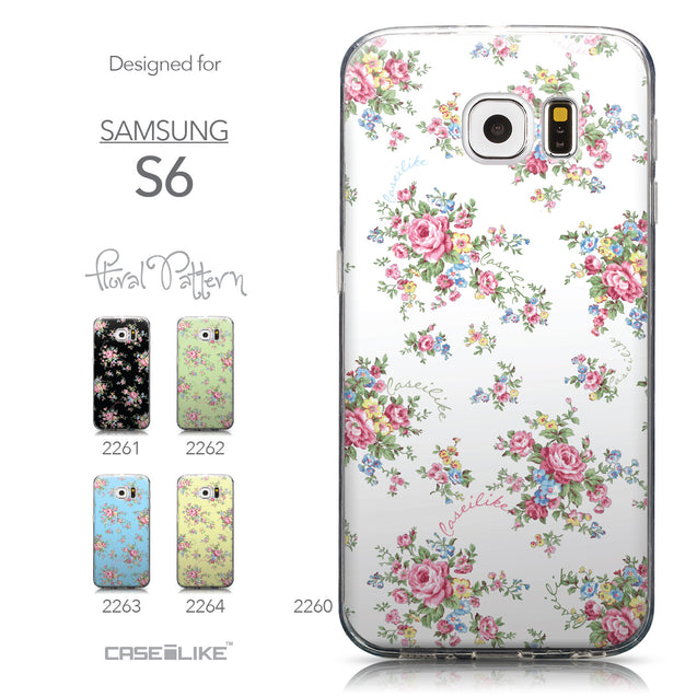 Collection - CASEiLIKE Samsung Galaxy S6 back cover Floral Rose Classic 2260