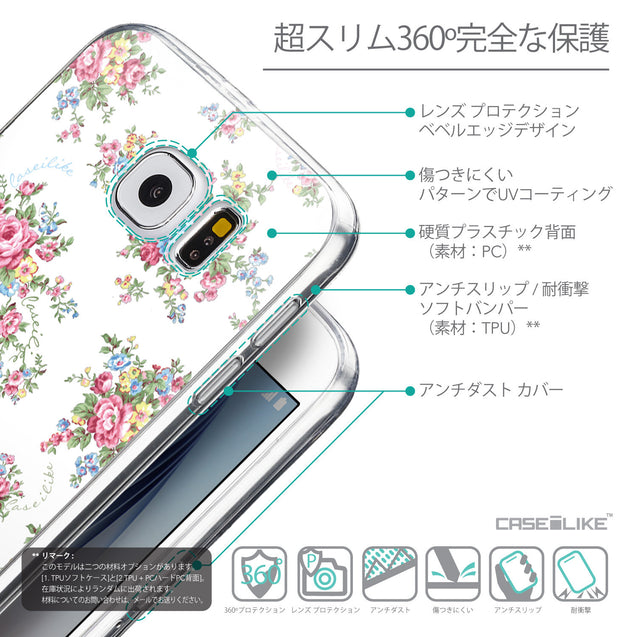 Details in Japanese - CASEiLIKE Samsung Galaxy S6 back cover Floral Rose Classic 2260