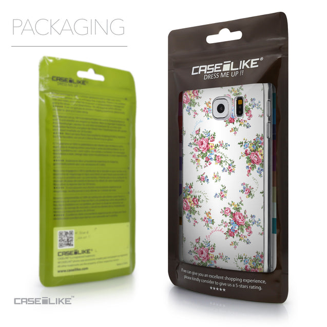 Packaging - CASEiLIKE Samsung Galaxy S6 back cover Floral Rose Classic 2260