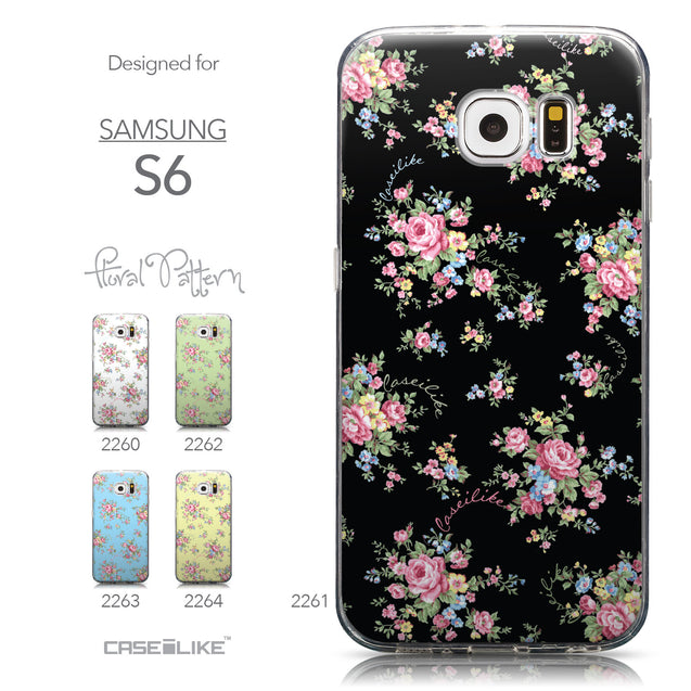 Collection - CASEiLIKE Samsung Galaxy S6 back cover Floral Rose Classic 2261