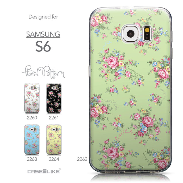 Collection - CASEiLIKE Samsung Galaxy S6 back cover Floral Rose Classic 2262