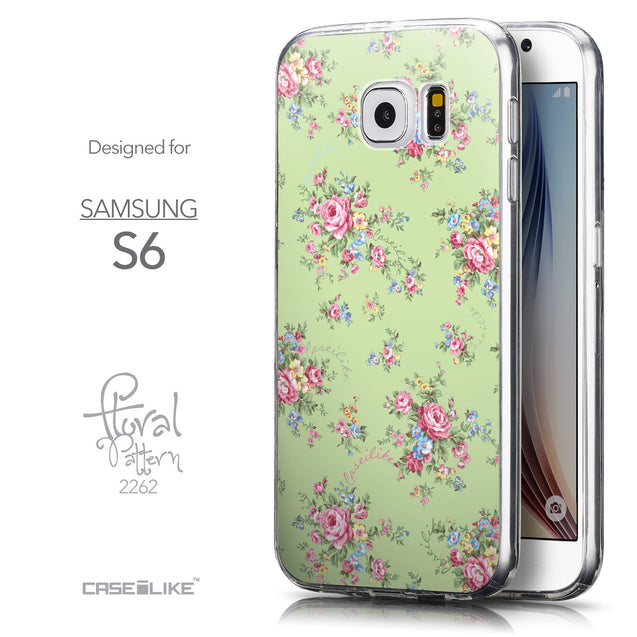 Front & Side View - CASEiLIKE Samsung Galaxy S6 back cover Floral Rose Classic 2262