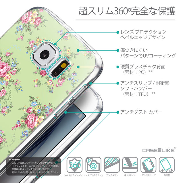 Details in Japanese - CASEiLIKE Samsung Galaxy S6 back cover Floral Rose Classic 2262