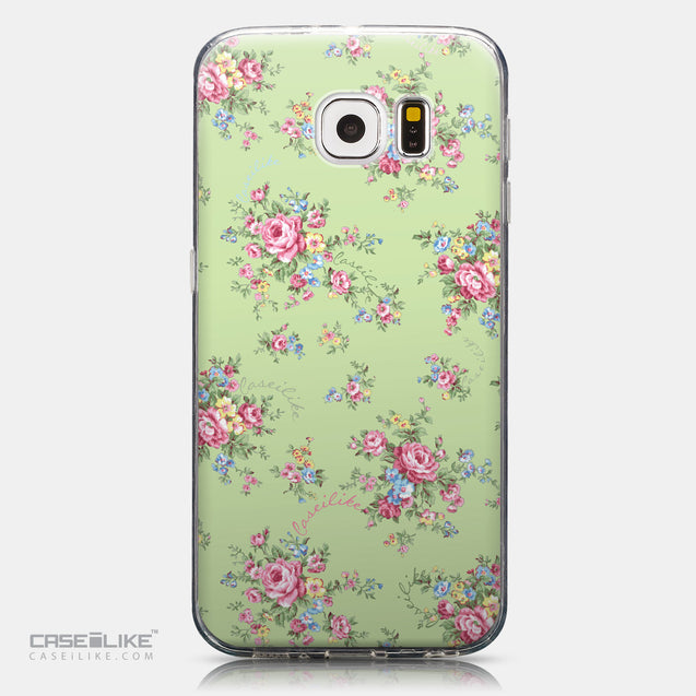 CASEiLIKE Samsung Galaxy S6 back cover Floral Rose Classic 2262