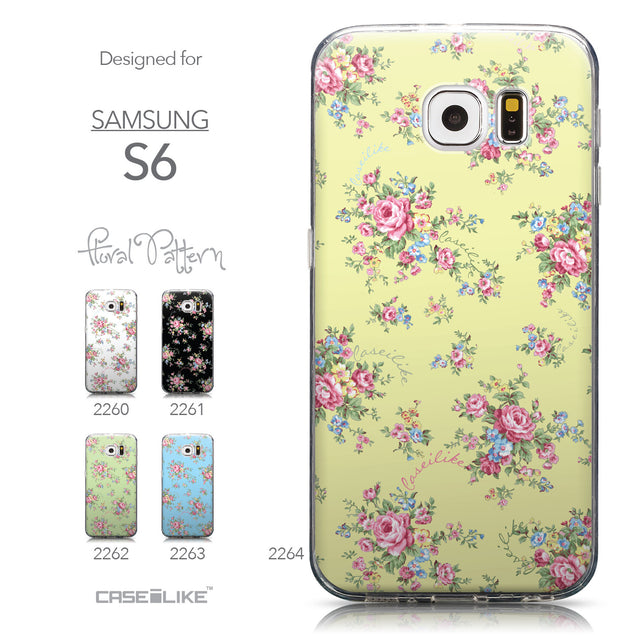 Collection - CASEiLIKE Samsung Galaxy S6 back cover Floral Rose Classic 2264