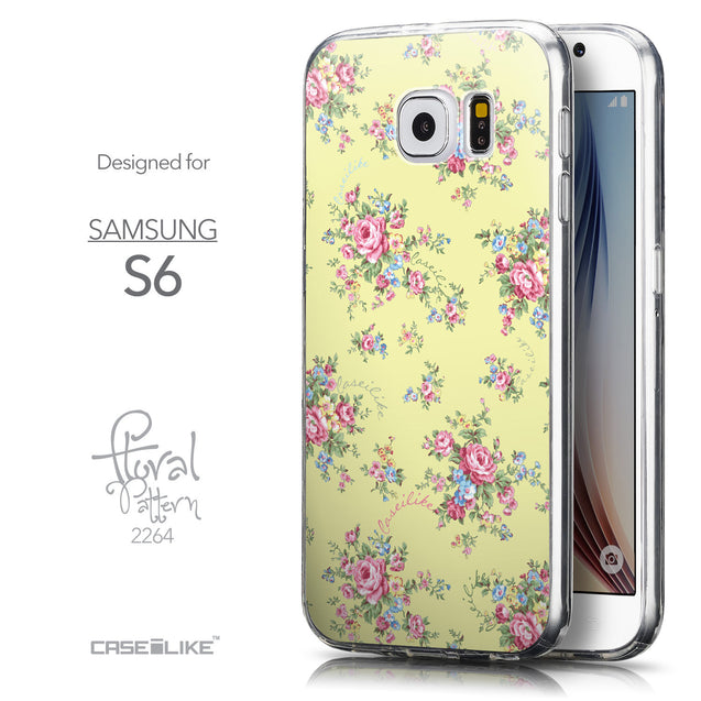 Front & Side View - CASEiLIKE Samsung Galaxy S6 back cover Floral Rose Classic 2264
