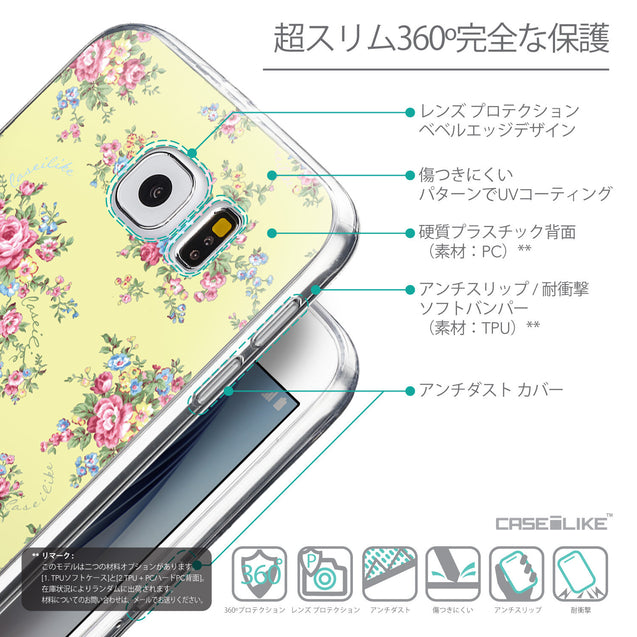 Details in Japanese - CASEiLIKE Samsung Galaxy S6 back cover Floral Rose Classic 2264