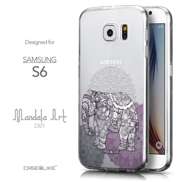 Front & Side View - CASEiLIKE Samsung Galaxy S6 back cover Mandala Art 2301