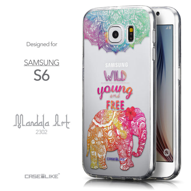 Front & Side View - CASEiLIKE Samsung Galaxy S6 back cover Mandala Art 2302