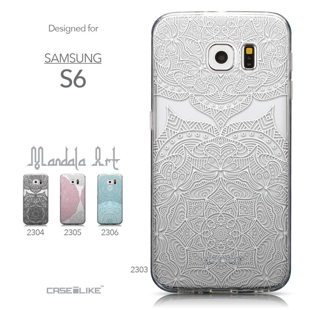 Collection - CASEiLIKE Samsung Galaxy S6 back cover Mandala Art 2303
