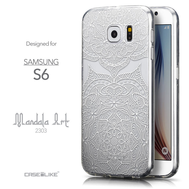 Front & Side View - CASEiLIKE Samsung Galaxy S6 back cover Mandala Art 2303