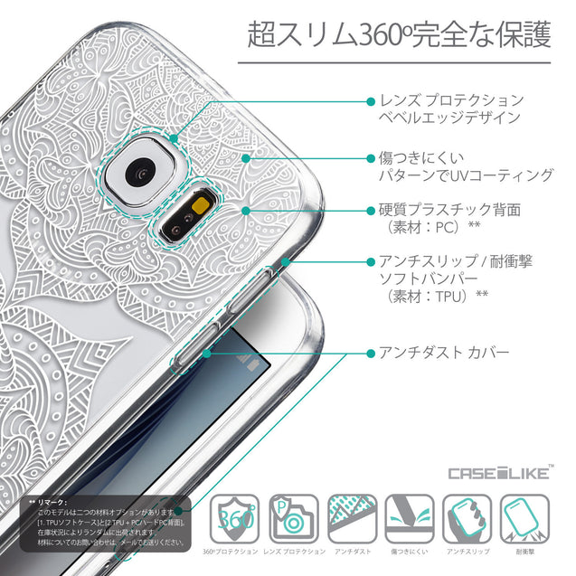 Details in Japanese - CASEiLIKE Samsung Galaxy S6 back cover Mandala Art 2303