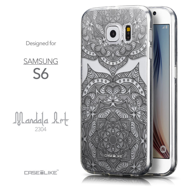 Front & Side View - CASEiLIKE Samsung Galaxy S6 back cover Mandala Art 2304