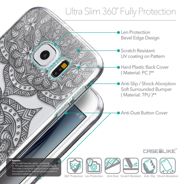 Details in English - CASEiLIKE Samsung Galaxy S6 back cover Mandala Art 2304