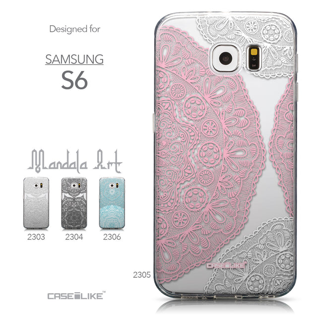 Collection - CASEiLIKE Samsung Galaxy S6 back cover Mandala Art 2305
