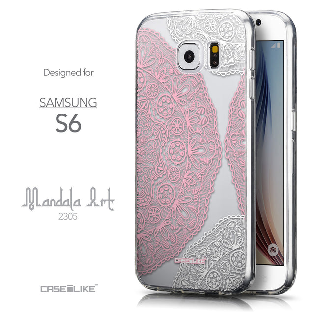 Front & Side View - CASEiLIKE Samsung Galaxy S6 back cover Mandala Art 2305