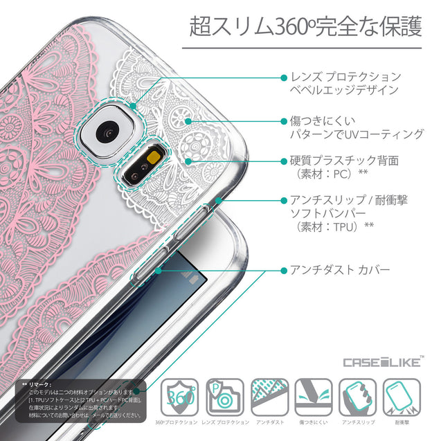 Details in Japanese - CASEiLIKE Samsung Galaxy S6 back cover Mandala Art 2305