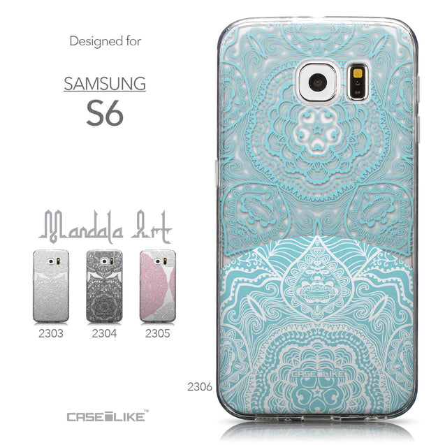 Collection - CASEiLIKE Samsung Galaxy S6 back cover Mandala Art 2306