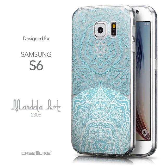 Front & Side View - CASEiLIKE Samsung Galaxy S6 back cover Mandala Art 2306